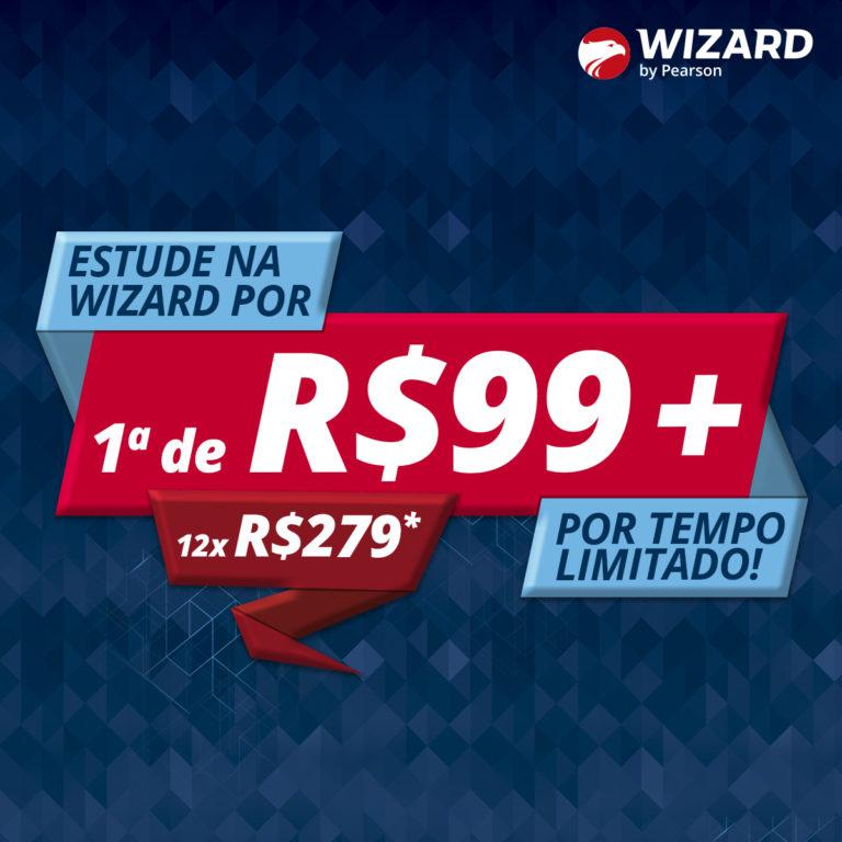 Estude um novo idioma na Wizard por 1ª de R$99 + 12x de R$279!
