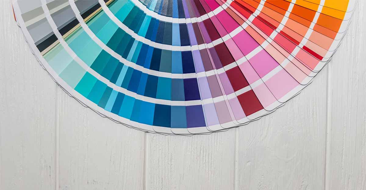 Um fichário com diversas cores
