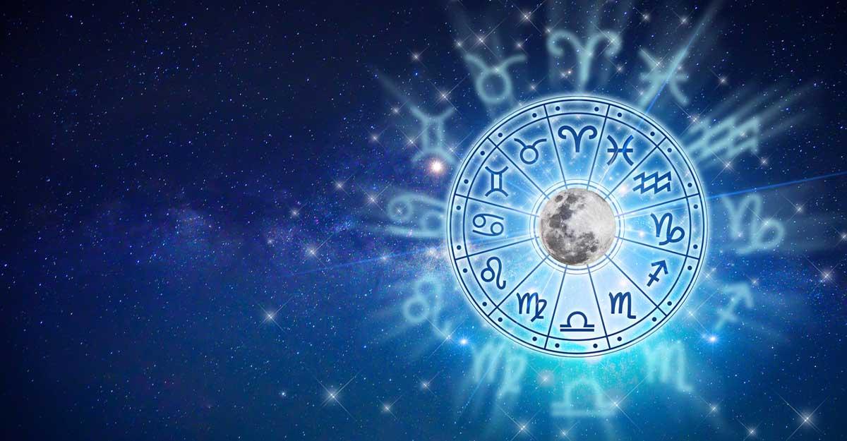 Imagem com ilustração dos símbolos dos signos do zodíaco