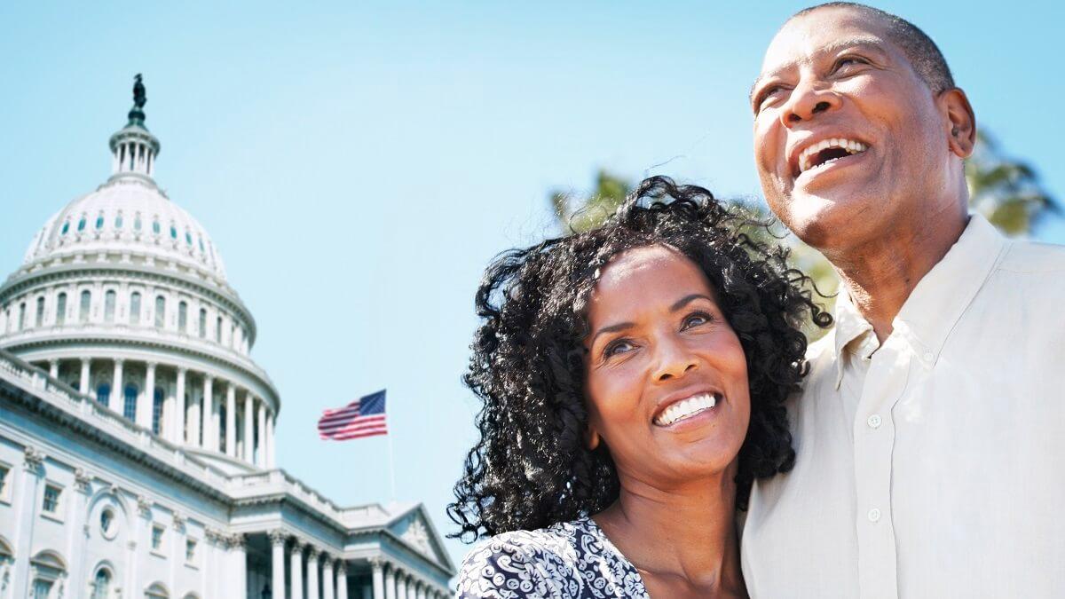 Casal homem e mulher nos Estados Unidos