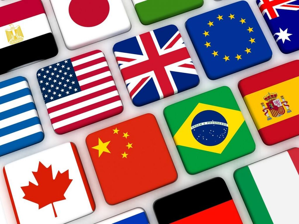 Bandeiras de vários países