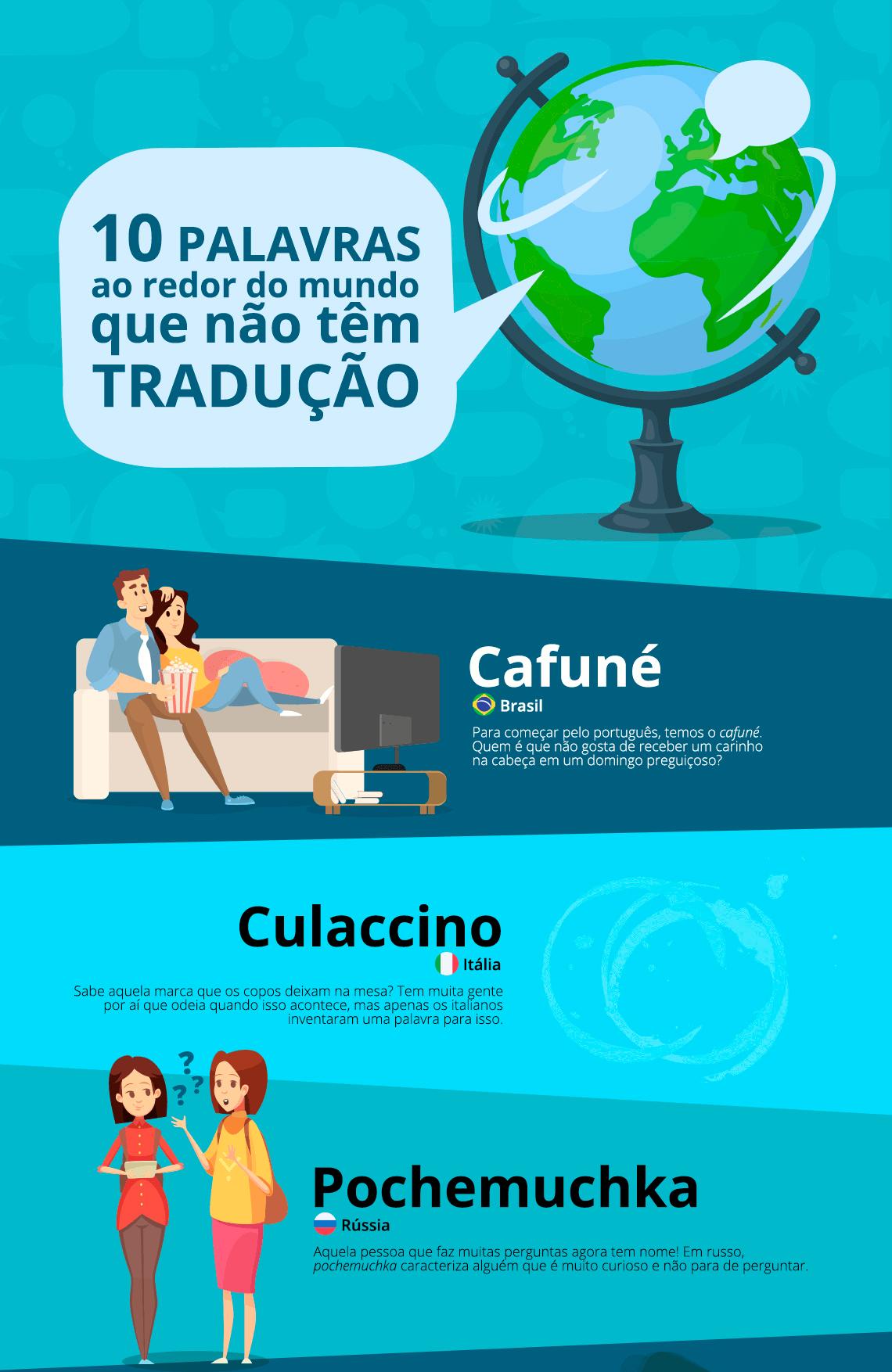 Palavras ao redor do mundo que não tem tradução