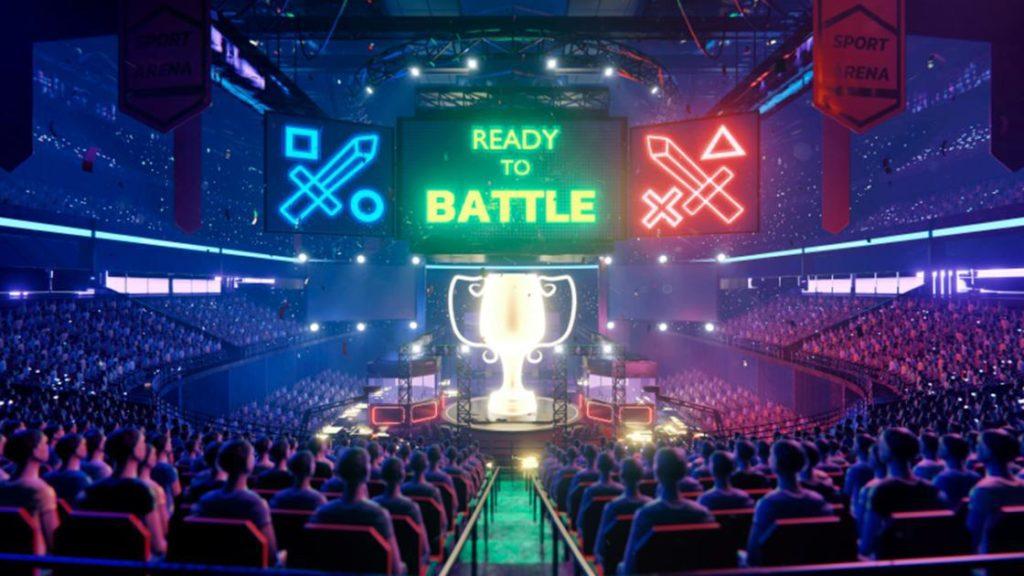 Ilustração de uma arena de esports