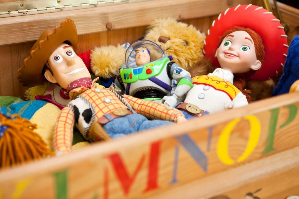 Bonecos do Toy Story, filme famoso da infância de quem nasceu na década de 90