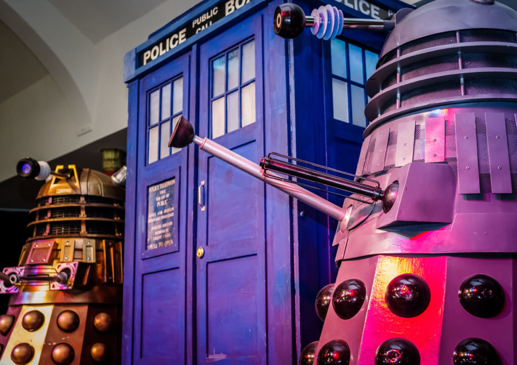 Itens da série geek Doctor Who