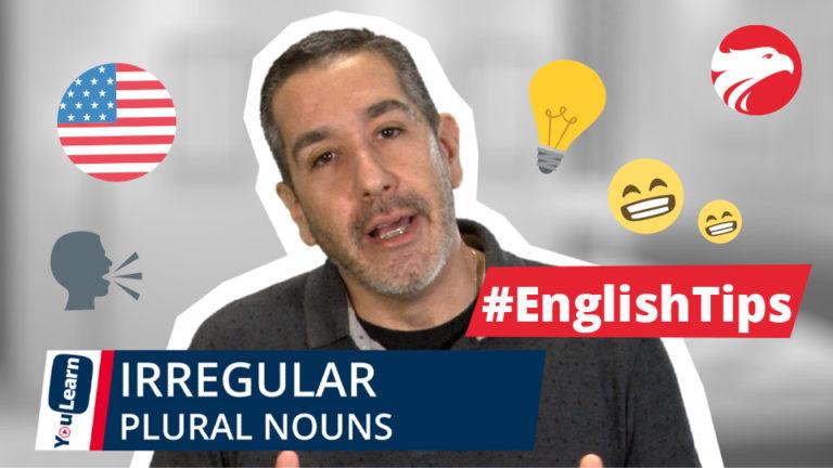 Professor Wizard Idiomas + texto English Tips Irregular Plural Nouns em Inglês