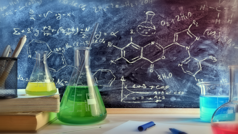 Imagem de alguns objetos de química
