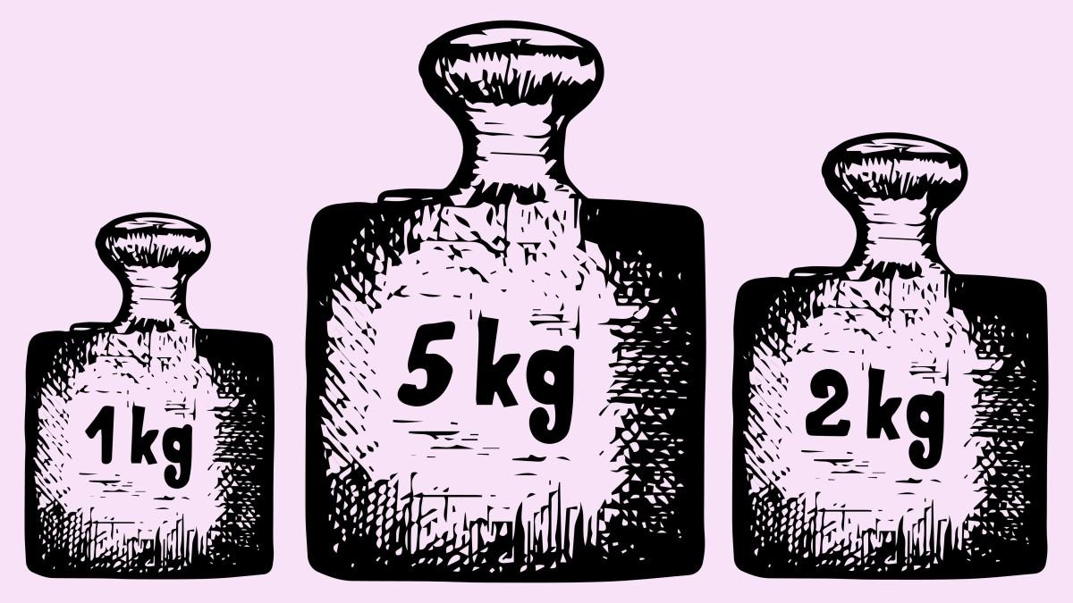 Ilustração de três potes de tamanhos diferentes
