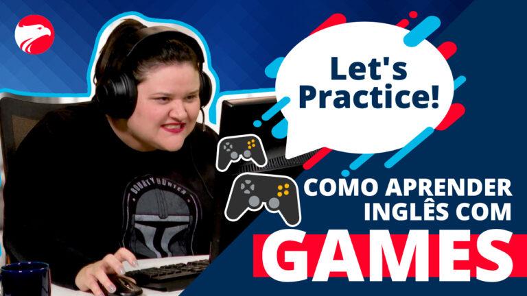 Ari aparece jogando em primeiro plano um pc game, com um balão escrito Let's Practice