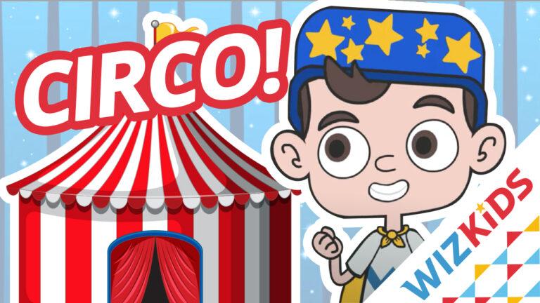 Little Wiz à frente de um circo