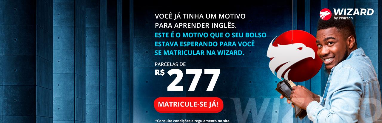 Parcelas de R$277!* Não perca! Wizard